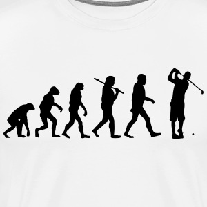 Evolution of golf Langarmshirts - Männer Premium T-Shirt