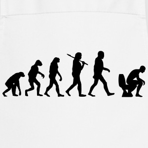 evolution of toilette Langarmshirts - Kochschürze