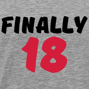 Finally 18 Langarmshirts - Männer Premium T-Shirt