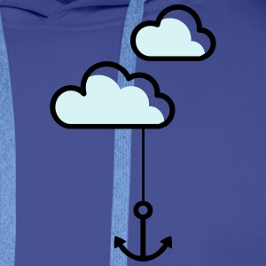 Anchor in the cloud T-Shirts - Men's Premium Hoodie