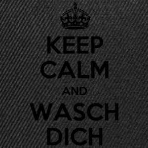 keep calm and wasch dich Langarmshirts - Snapback Cap