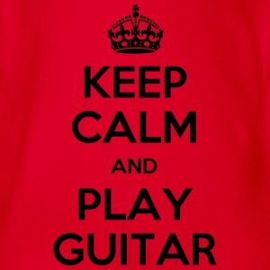keep calm and play guitar T-Shirts - Baby Bio-Kurzarm-Body