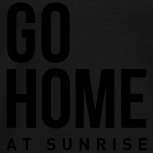go home at sunrise Party Techno Club Statement  Langarmshirts - Männer Premium T-Shirt