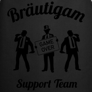 Bräutigam Game Over Support Team (JGA / 1C) Shirt - Kochschürze