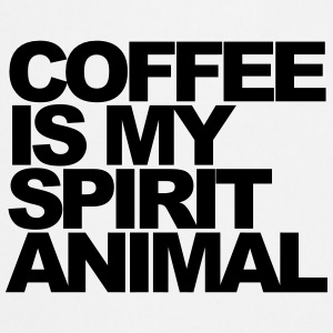 Coffee is my spirit animal Mokken & toebehoor - Keukenschort