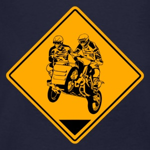 Sidecar MotoCross Road Sign Sweatshirts - Organic mænd