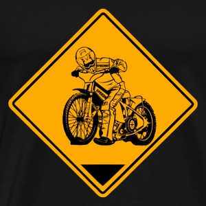 Speedway Road Sign Sportkläder - Premium-T-shirt herr