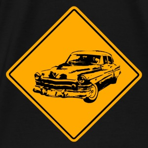 Car Road Sign Pullover & Hoodies - Männer Premium T-Shirt