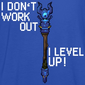 Marinblå I don't workout I level up! T-shirts - Tanktopp dam från Bella
