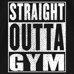 Straight Outta Gym - Männer Premium T-Shirt