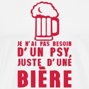 pas besoin psy juste biere alcool humour Tabliers - T-shirt Premium Homme