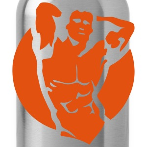 Bodybuilder logo muscle building 2202 T-Shirts - Water Bottle
