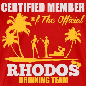 Certified member of the RHODOS drinking team Tops - Mannen Premium T-shirt