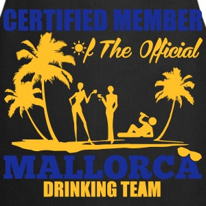 Certified member of the MALLORCA drinking team Camisetas - Delantal de cocina