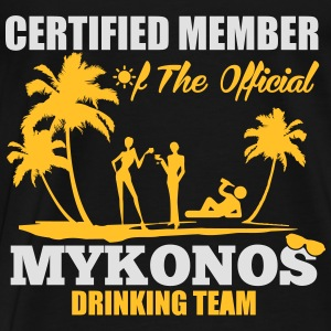 Certified member of the MYKONOS drinking team Tops - Men's Premium T-Shirt