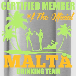 Certified member of the MALTA drinking team Tee shirts - Gourde