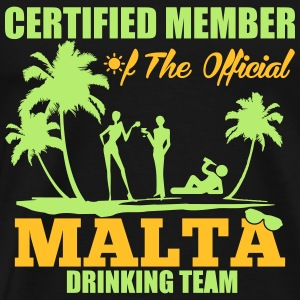 Certified member of the MALTA drinking team Sportbekleidung - Männer Premium T-Shirt