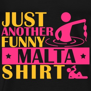 JUST ANOTHER FUNNY MALTA SHIRT Tops - Männer Premium T-Shirt