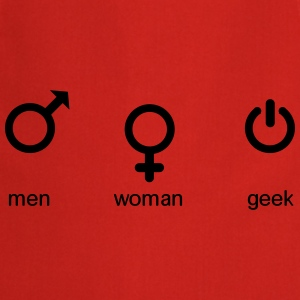 men woman geek T-shirts - Förkläde