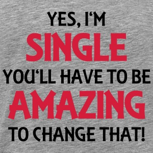 Yes, I'm single Manches longues - T-shirt Premium Homme