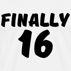 Finally 16 Manga larga - Camiseta premium hombre