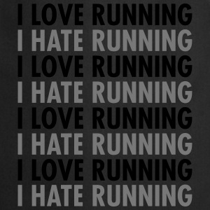 I Love / Hate Running T-shirts - Forklæde