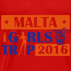 MALTA GIRLS TRIP 2016 Topper - Premium T-skjorte for menn