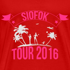 SIOFOK tour 2016 Topper - Premium T-skjorte for menn