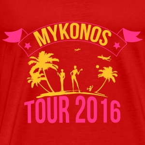 MYKONOS tour 2016 Topper - Premium T-skjorte for menn