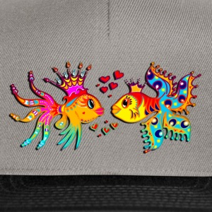 FISH IN LOVE, Bubbles, Sea, Ocean, Holiday, Surf Débardeurs - Casquette snapback