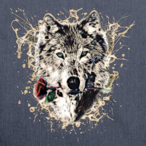 Wolf with Rose, Love Symbol, Ulv, Nature T-shirts - Skuldertaske af recycling-material