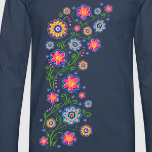 Summer flowers, spring, garden, nature, beautiful T-shirts - Herre premium T-shirt med lange ærmer