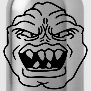 ugly face monster horror halloween grimace eat hea T-Shirts - Water Bottle
