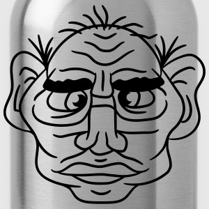 face head ugly disgusting old man grandpa monster  T-Shirts - Water Bottle