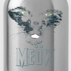 Nero Cat Shirt Heays Metall Magliette - Borraccia