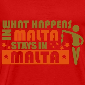 WHAT HAPPENS IN MALTA STAY N MALTA Tops - Men's Premium T-Shirt