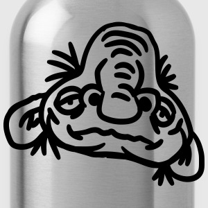 old opa face man ugly disgusting monster horror ha T-Shirts - Water Bottle