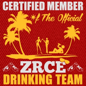 Certified member of the ZRCE drinking team Tops - Gorra Snapback
