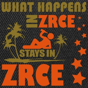 WHAT HAPPENS IN ZRCE STAYS IN ZRCE Tops - Gorra Snapback