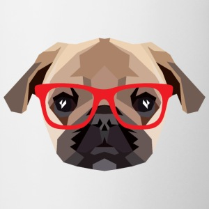 Hipster Mops (Low Poly) T-shirts - Mok