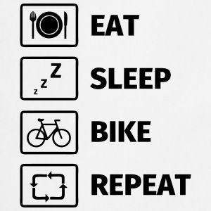Eat Sleep Bike Repeat T-shirts - Keukenschort