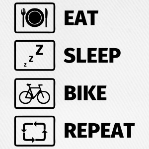 Eat Sleep Bike Repeat T-shirts - Baseballcap