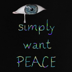 I simply want peace Version 6 Taschen & Rucksäcke - Baby T-Shirt