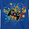 Kongeblå Gamepad T-shirts - Børne-T-shirt