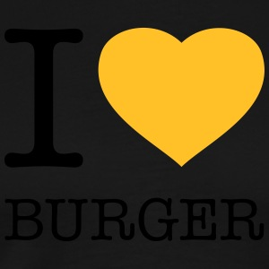 I LOVE BURGER Tabliers - T-shirt Premium Homme