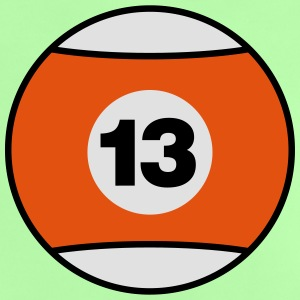 Billiard Ball Number 13 - orange - V3 Shirts - Baby T-Shirt