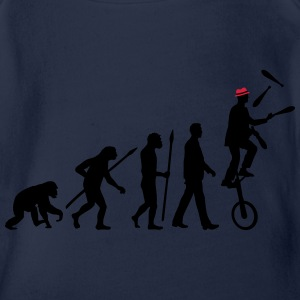 evolution_of_man_jongleur02_2c T-Shirts - Baby Bio-Kurzarm-Body