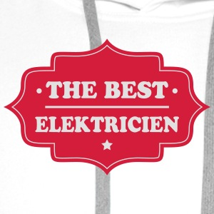 The best elektricien T-skjorter - Premium hettegenser for menn