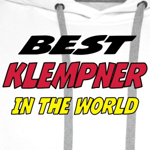 Best klempner in the world T-skjorter - Premium hettegenser for menn