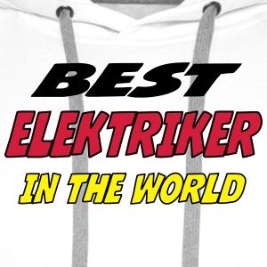 Best elektriker in the world T-skjorter - Premium hettegenser for menn